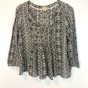 Vanessa Virginia (Anthro) Boho Blouse Size 8